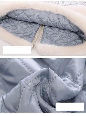 【KIDS】ツイードファーバッグ付きジャケット