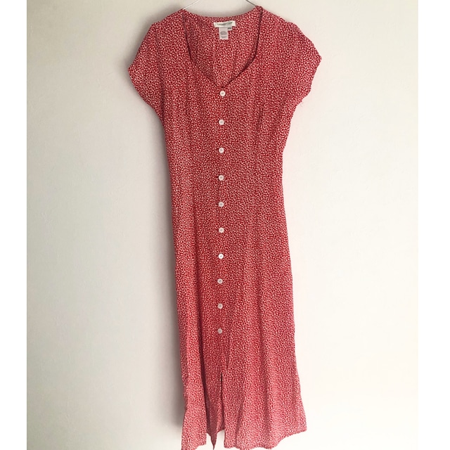 red flower maxi one-piece