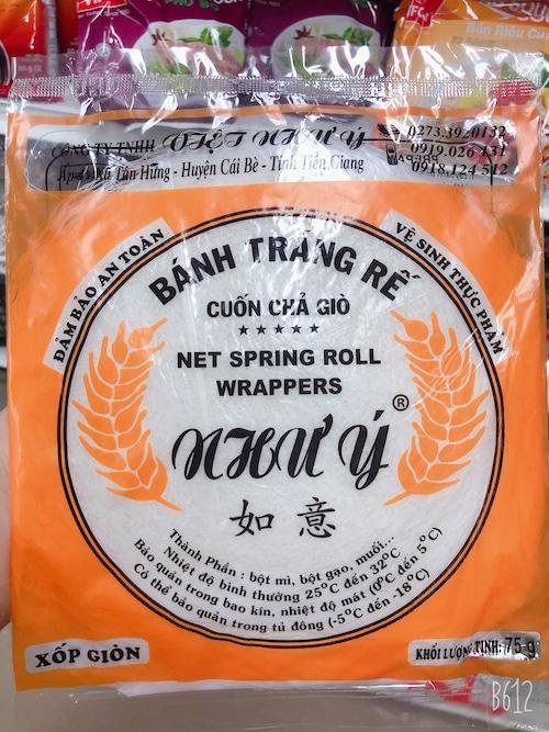 揚げ春巻きライスペーパー-Bánh tráng rế(75g)