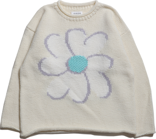 """CC """"FLOWER with LOVE"""" HAND KNIT -IVORY-"""