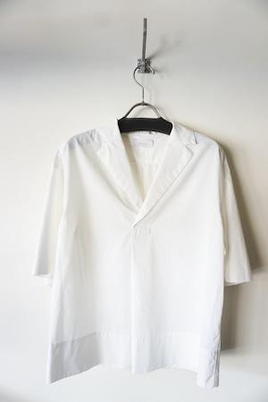 Cotton Open Collared Shirt [ White ]