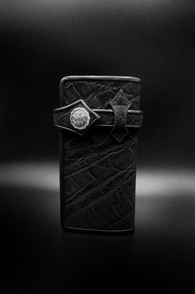 Item No.0388:Round Zip Wallet/American Bison BK