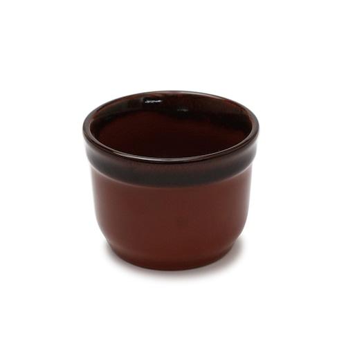 陶器麺猪口・茶 【60-011】