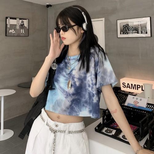 クロップドタイダイTシャツ RD8780