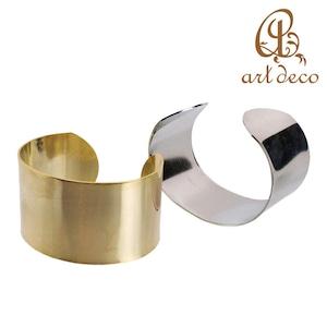 アクセサリー パーツ バングル ブレスレット 腕輪 10個 フリー 幅35mm 外周180mm [ban-0001] ハンドメイド オリジナル 材料 金具 装飾