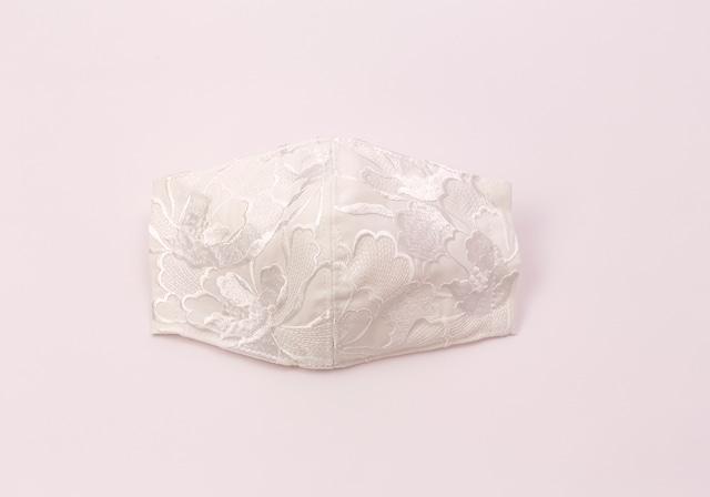 【着物マスク】チャーム付き・刺繍マスク- KOTOHOGI(m03403)