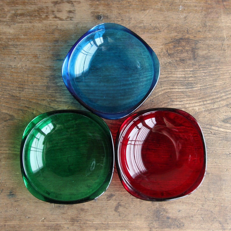カガミクリスタル 3色小皿セット