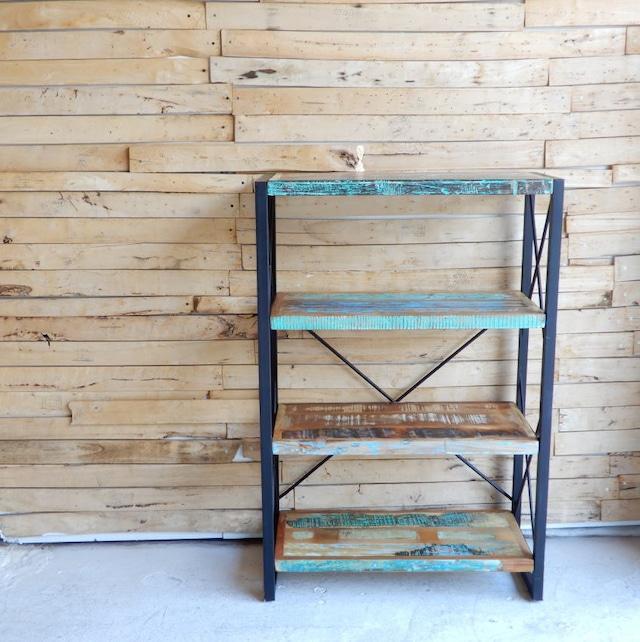 TOPANGA Furniture リサイクルウッド&アイアン 4段シェルフ H120cm