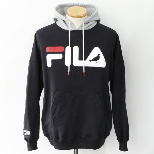 STAPLE × FILA LOGO SWICHING HOODIE (BLACK)