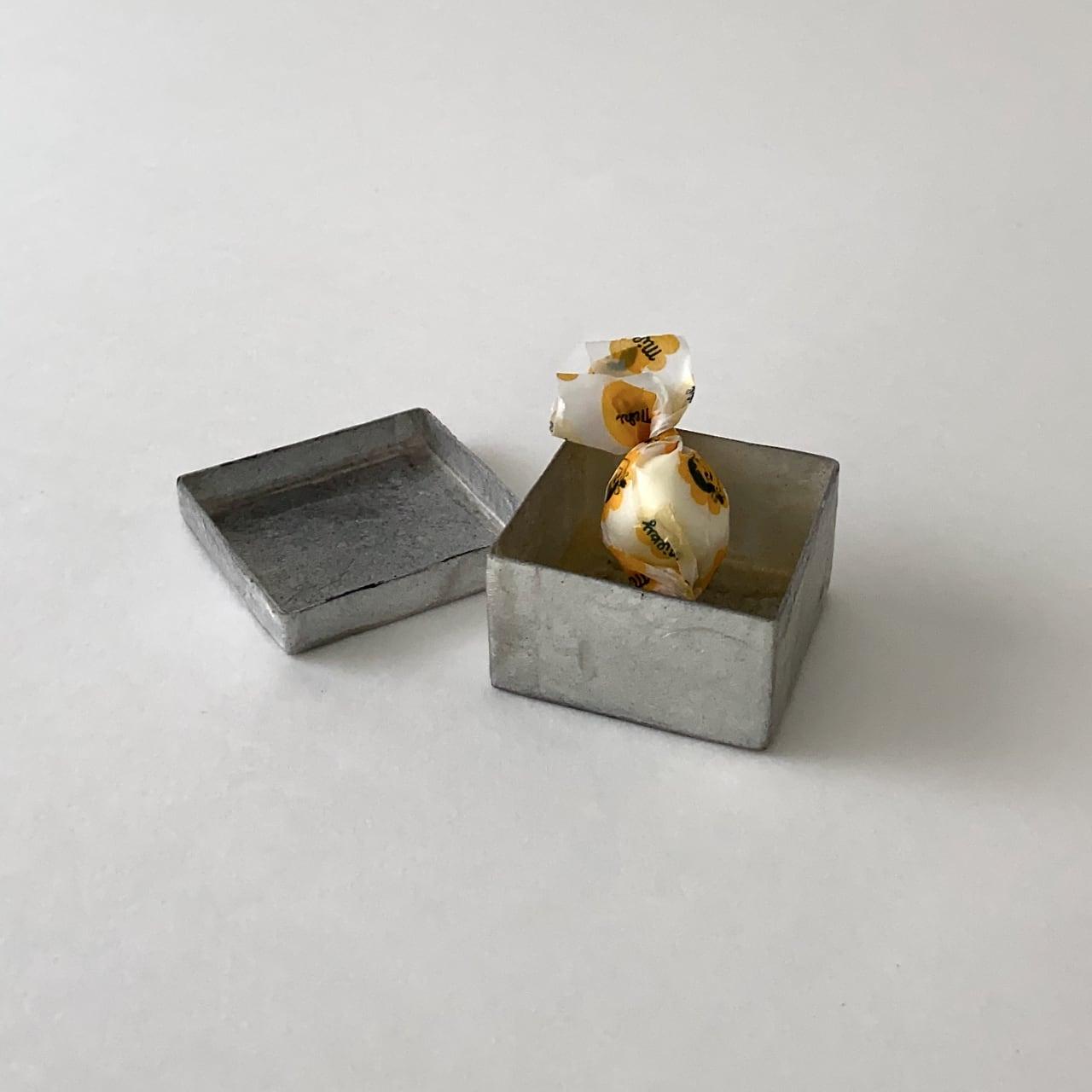Box Capiz Square Grey|トリンケット ボックス スクエア グレイ