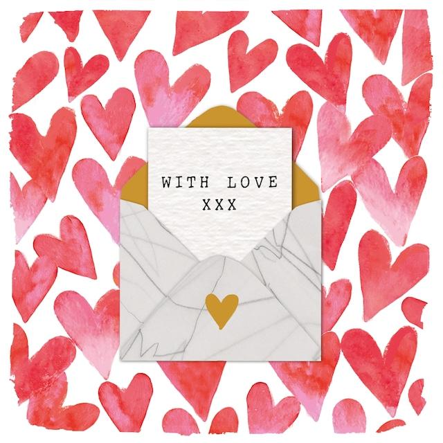 2021秋冬【Paperproducts Design】バラ売り2枚 ランチサイズ ペーパーナプキン Love Letter レッド