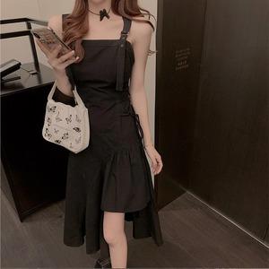 belt asymmetry dress