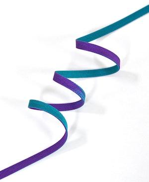 左右染め分け三分紐 紫