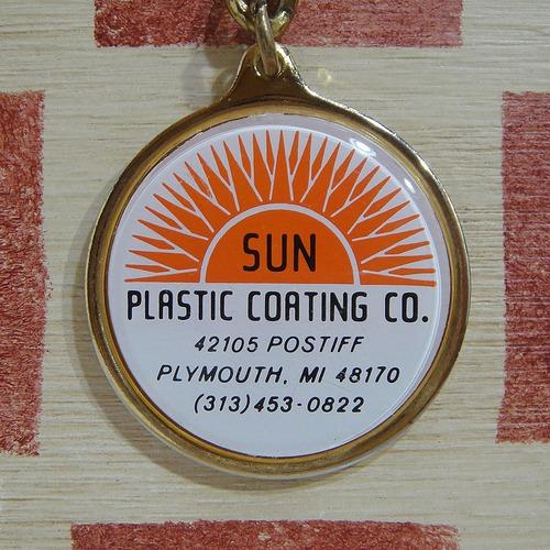 アメリカ SUN PLASTIC COATING CO.[サン プラスチック コーティング カンパニー ]樹脂コーティング会社キーホルダー