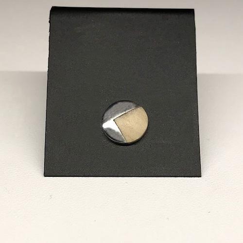 ソロ(単品)丸型 ピアス 02  ナチュラルベージュ