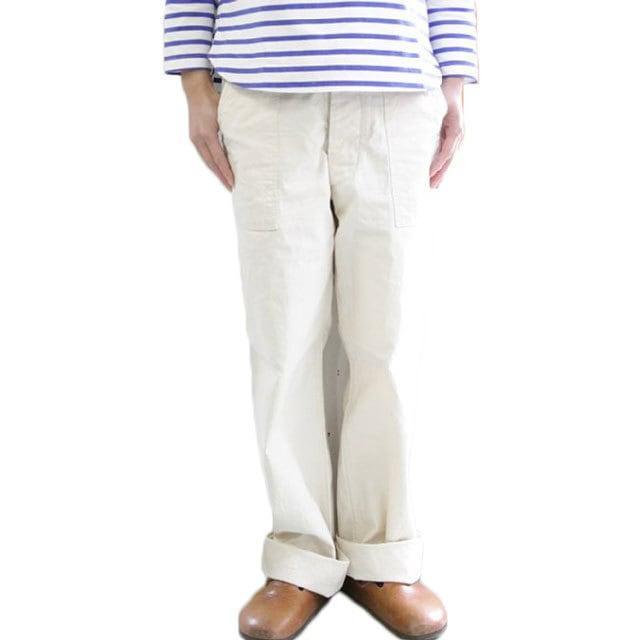 ARAN (アラン) FATIGUE PANTS ファティーグパンツ ベイカーパンツ -ECRU キナリ-と-NAVY- ネイビー