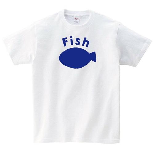 お魚 Tシャツ メンズ レディース 半袖 北欧 シンプル ゆったり おしゃれ トップス 白 30代 40代 ペアルック プレゼント 大きいサイズ 綿100% 160 S M L XL