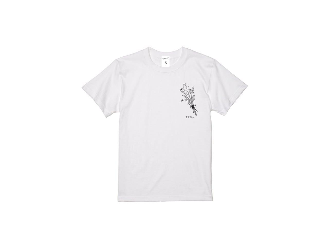 coguchi  MCMXCI flower T-shirts (BK)