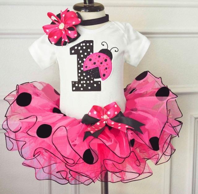 1歳 誕生日ドレス ドット柄チュールスカート