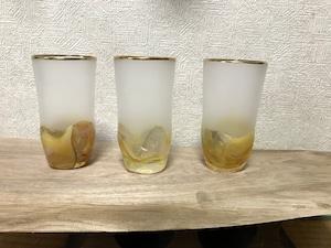 ゆらぎグラス(細)〜鉱石ガラス〜