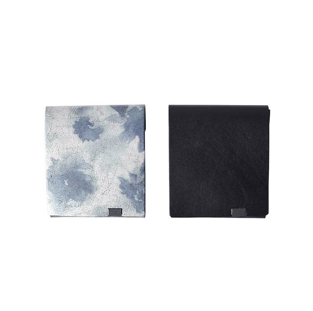 睡蓮画 フローラル(&ブラック) ショートウォレット2.0