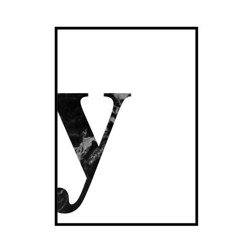 """""""y"""" 黒大理石 - Black marble - ALPHAシリーズ [SD-000552] A4サイズ ポスター単品"""