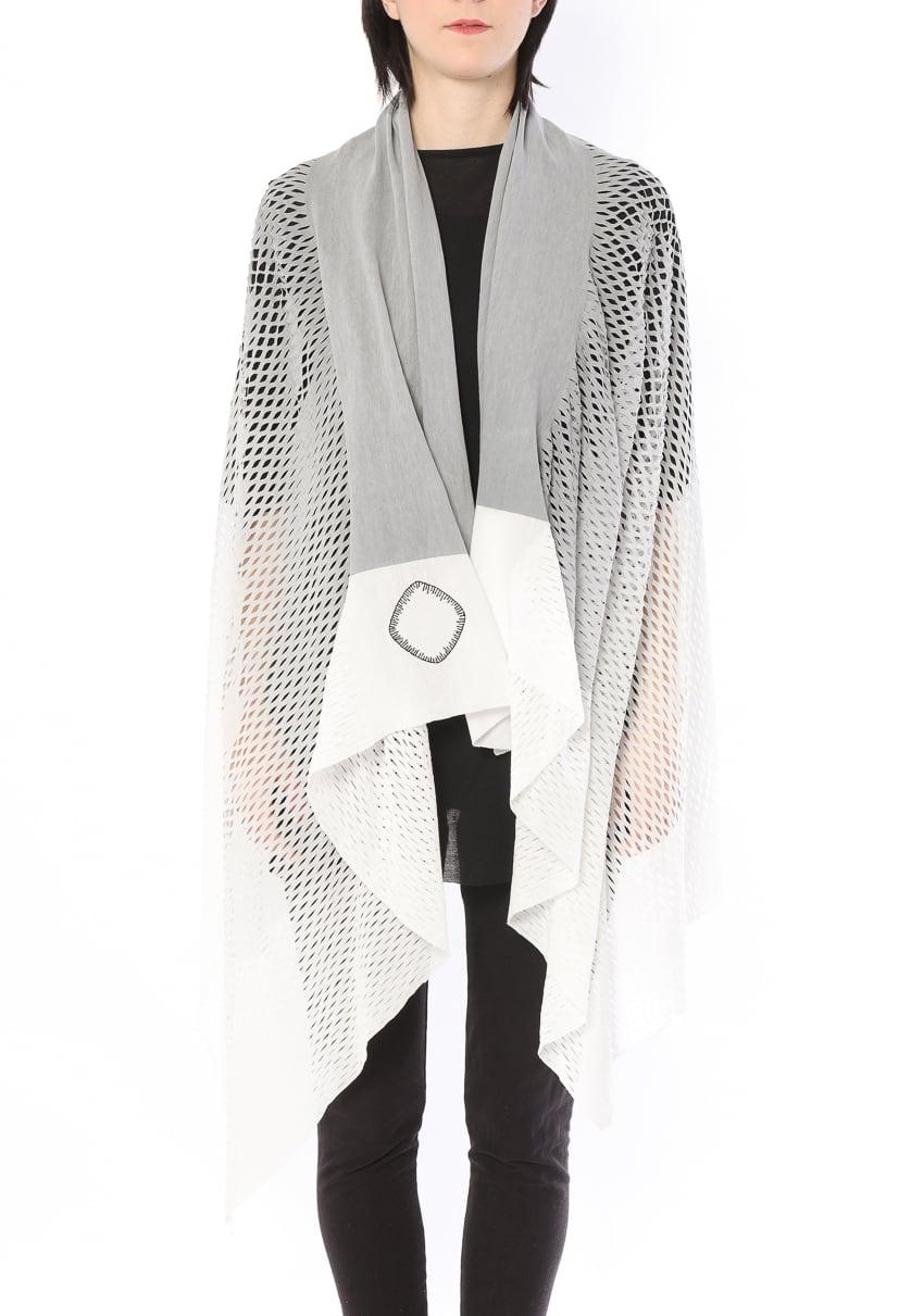 [着るアートストール]PLAIN CORNICE STOLE【COTTONコットン】 プレインコーニス ストール [登録意匠]カラーグラデーション グレーGRAY 1117CG[送料/税込]