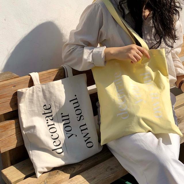 [mucu&ebony] Lemon and Bread bag(全2色)