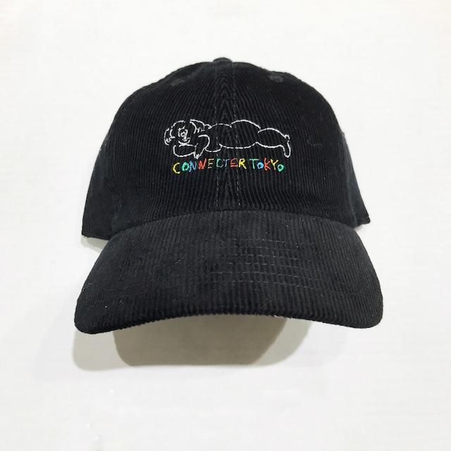 Connecter Tokyo ×megumi yamazaki corduroy cap black