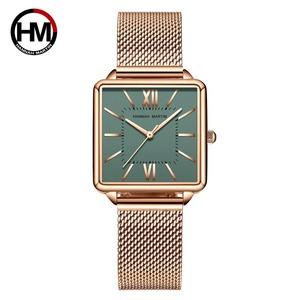 日本クォーツムーダイヤルローマ広場の時計ケースstanless鋼ファッション腕時計レディースローズゴールドは、女性の1082VWFF