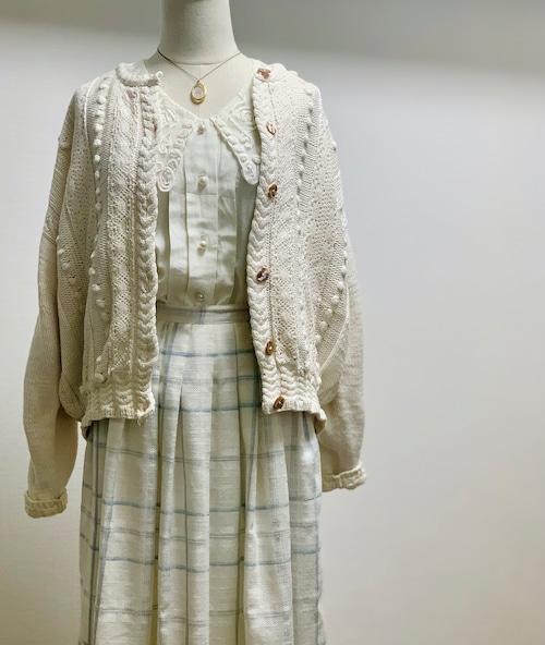 Vintage Cotton Hand Knit Cardigan