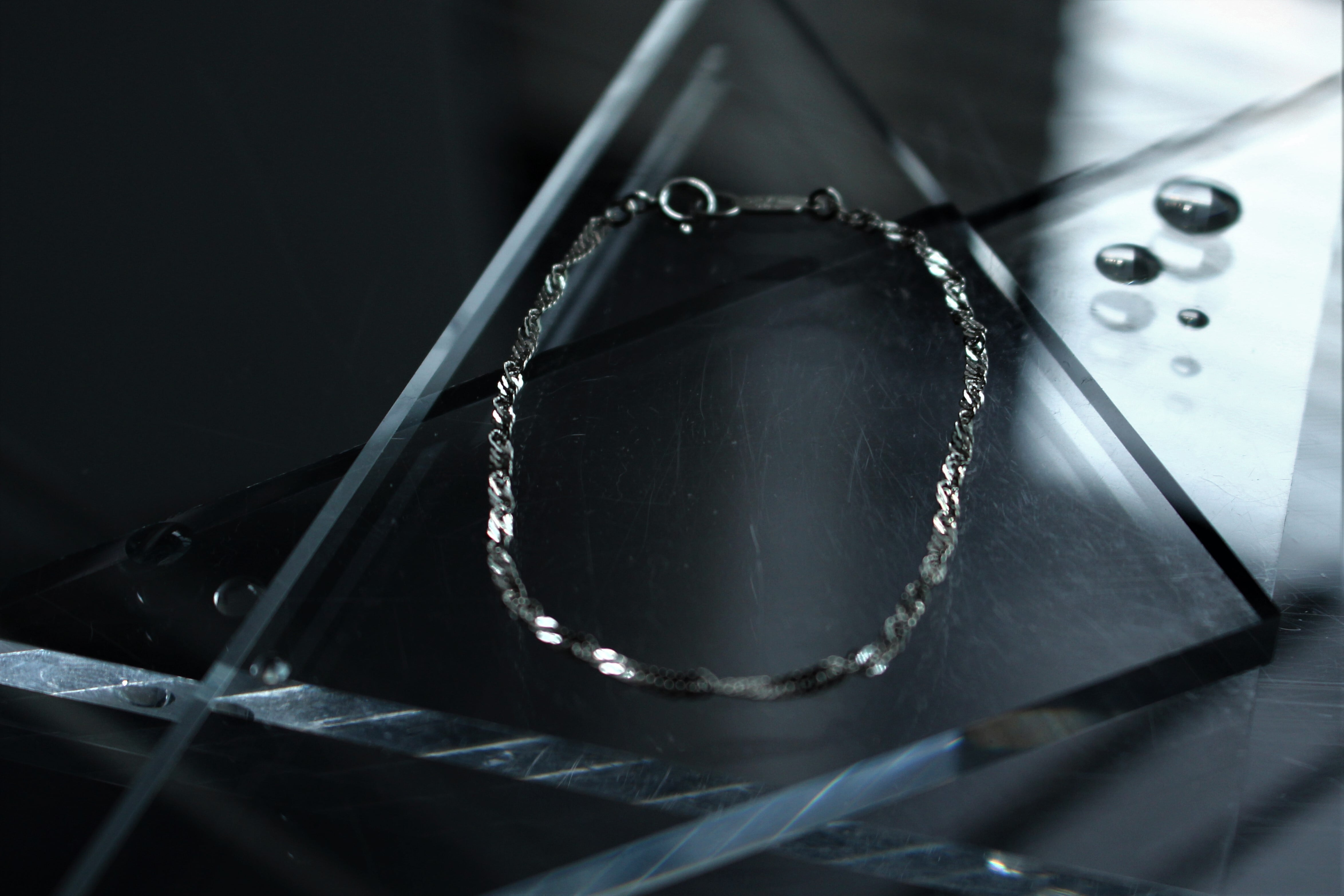 Vo.01 【SCREW】× chain braelet  × 925silver
