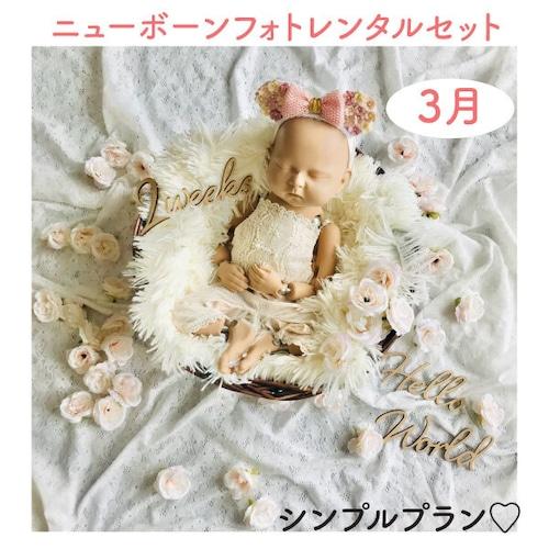シンプルプラン♡ニューボーンフォトレンタル女の子セット<3月ご出産予定のお客様枠>