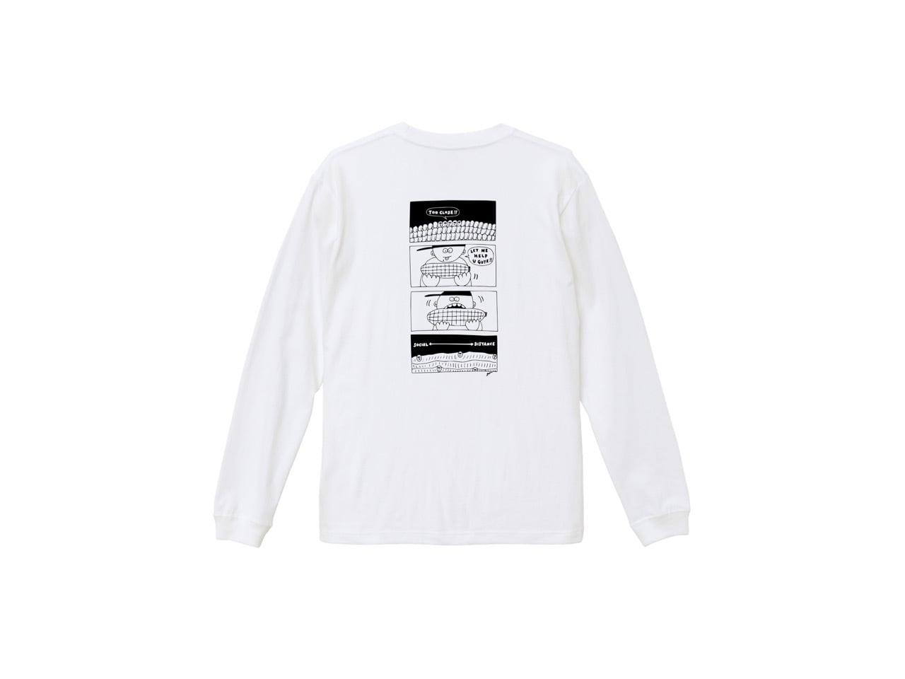 SHI × coguchi Corn SD long T-shirt (WH/BLK)