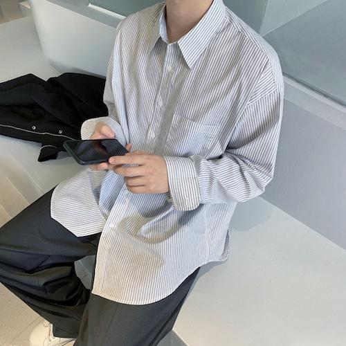 ベーシックストライプシャツ BL9319