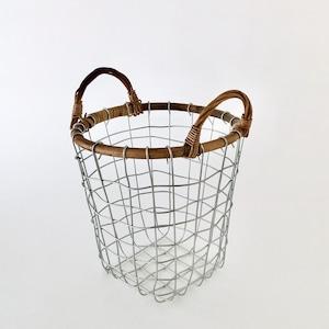 ラタントップ ワイヤーバスケット S|Rattan Top Wire Basket Small(PUEBCO)