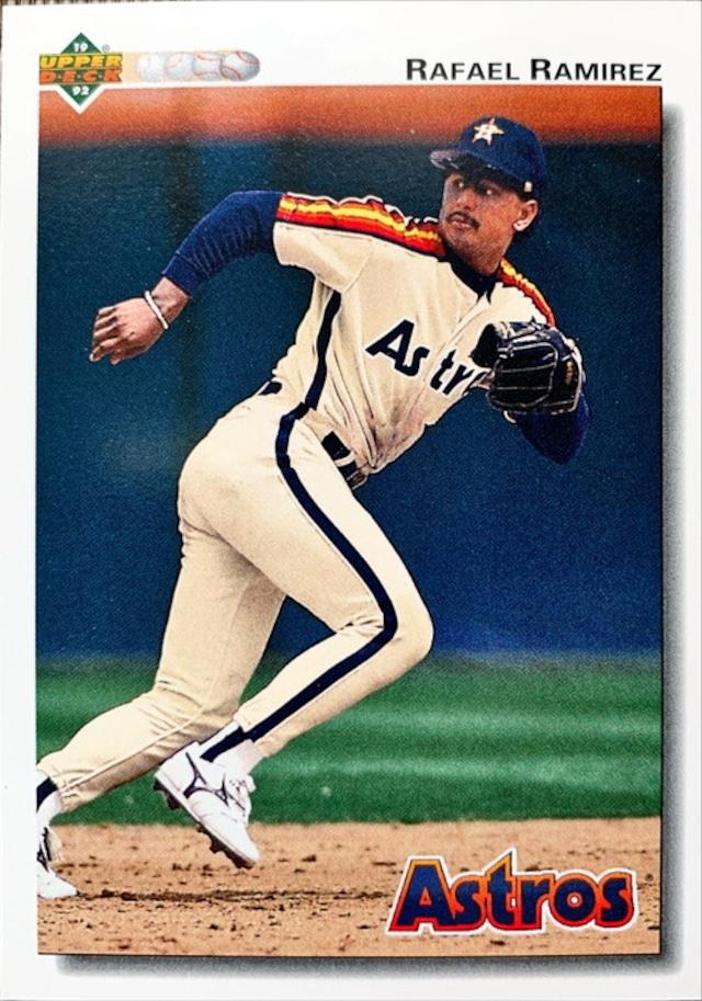 MLBカード 92UPPERDECK Rafael Ramirez #582 ASTROS