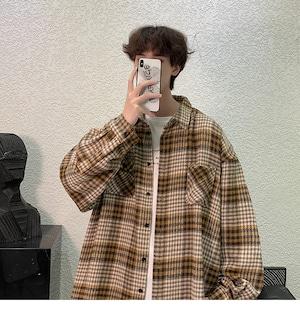 レトロチェックシャツ M-2XL