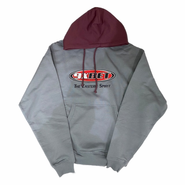 Rassvet cotton emb hoodie knit Grey