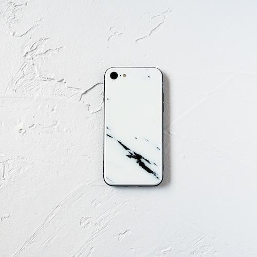 ガラス ホワイトマーブル スマホケース