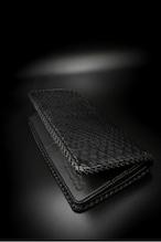 Item No.0360:Draw the wild Wallet/Diamond Pyhon BK / L-fin