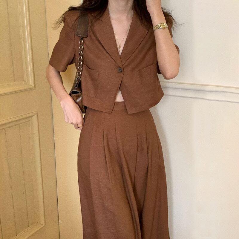 ガーリー セットアップ ジャケット   スカート ショートジャケット ガーリー スタイルアップ 韓国服
