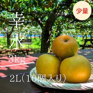 うれしい少量サイズ!【中玉】幸水9-10個入り(3kg)