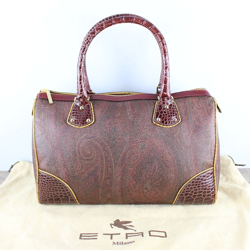 .ETRO PAISLEY PATTERNED BOSTON BAG MADE IN ITALY/エトロペイズリー柄ボストンバッグ2000000051697