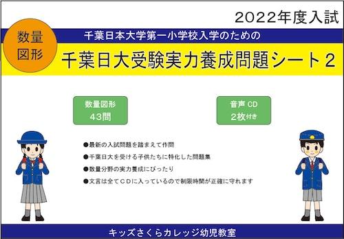千葉日大受験実力養成問題シート 第2集「数量図形」