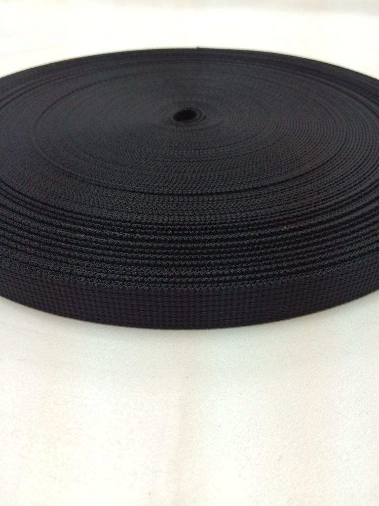 ナイロン ベルト  12本トジ織  15mm幅  1.5mm厚 黒  5m単位