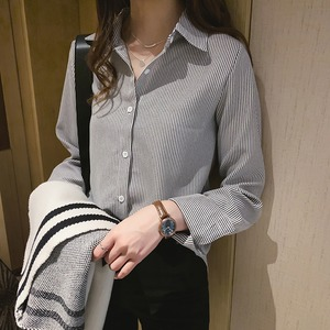 【M-4XL】ストライプシャツ