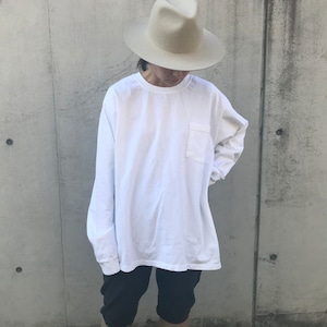 Goodwear ロングスリーブTシャツ WHT
