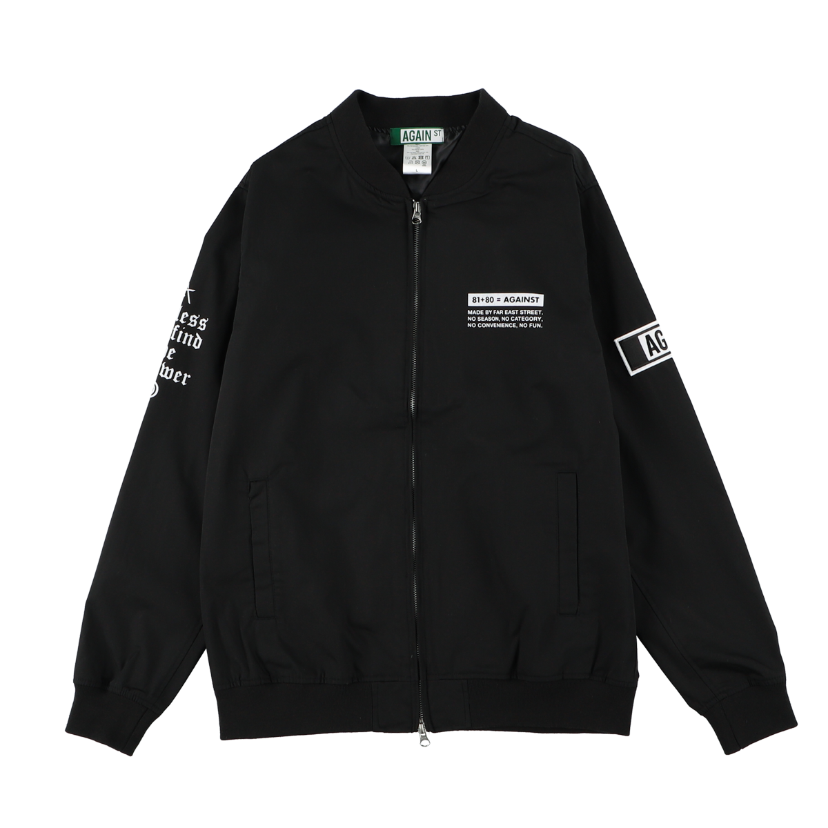AGAINST Crew Jacket/ BLACK