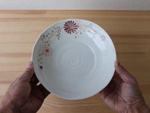 赤花 盛鉢 (色絵遊直売限定)